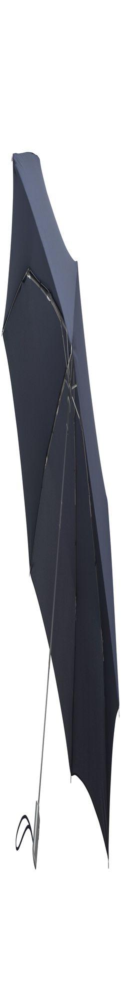 Складной зонт Alu Drop, 3 сложения, 7 спиц, автомат, темно-синий фото