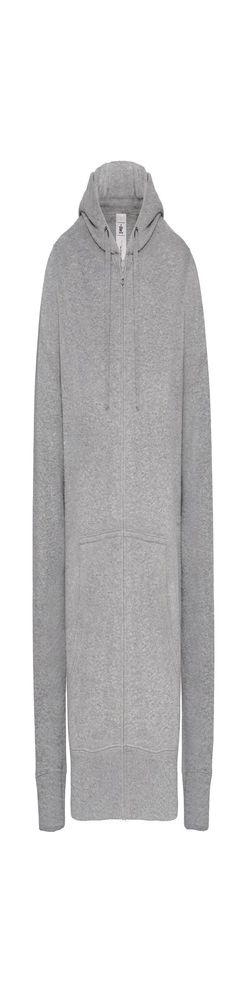 Толстовка мужская Hooded Full Zip серый меланж фото