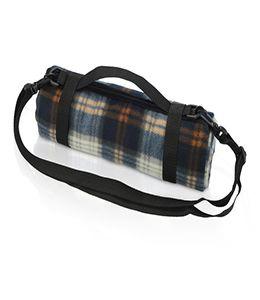 Плед для пикника с непромокаемой подкладкой и ремнем на плечо фото