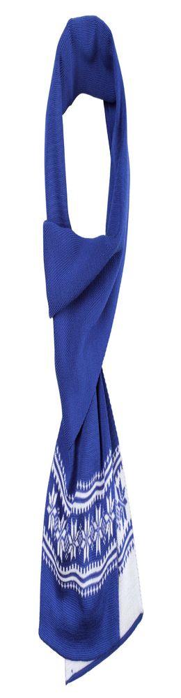 Шарф «Скандик», синий (васильковый) фото