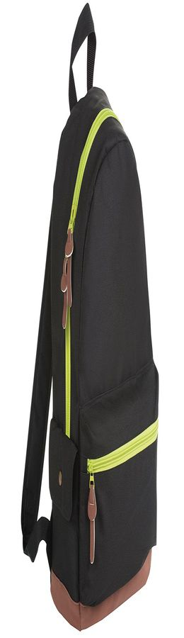 "Рюкзак ""PULSE"", черный/зеленый, полиестер  600D, 42х30х13 см, V16 литровДаДа фото"
