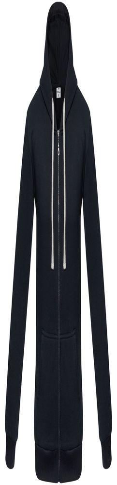 Толстовка на молнии с капюшоном Unit Siverga Heavy, темно-синяя фото