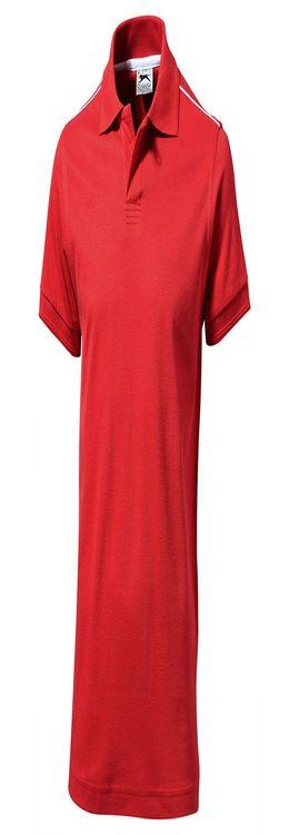 """Рубашка поло """"Backhand"""" мужская, красный/белый фото"""