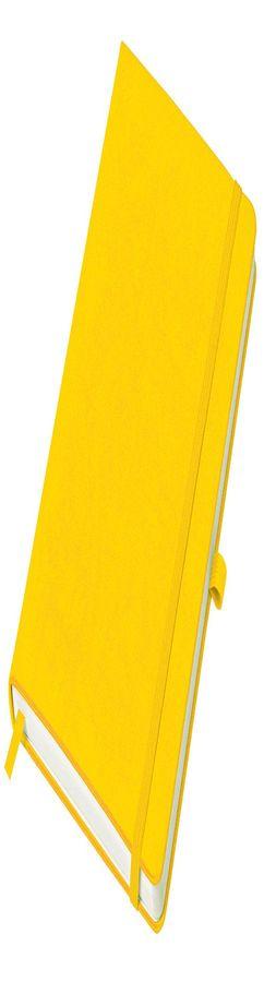 Бизнес-блокнот Justy, А5, в линейку, желтый фото