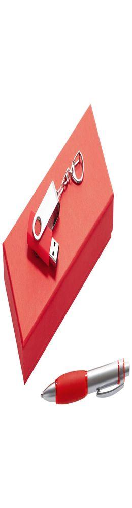Набор Notes: ручка и флешка 16 Гб, красный фото