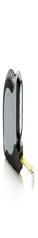 Рулетка с фонариком 2-в-1, серый фото