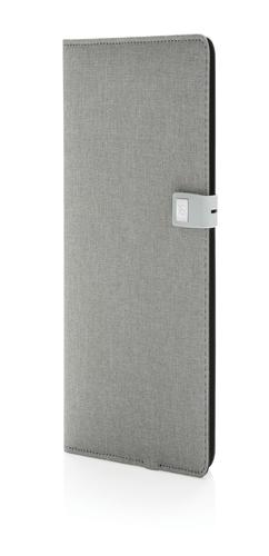 Органайзер Kyoto с зарядным устройством и флешкой, серый фото