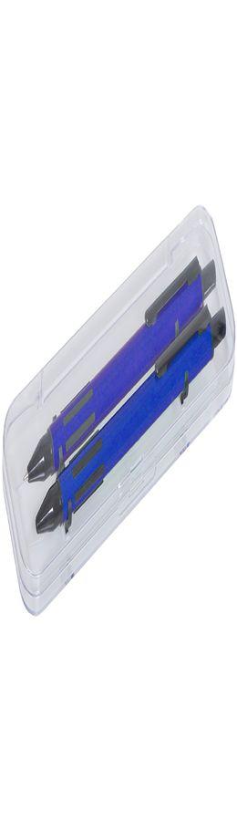 FUTURE Набор ручка и карандаш в прозрачном футляре, синий фото
