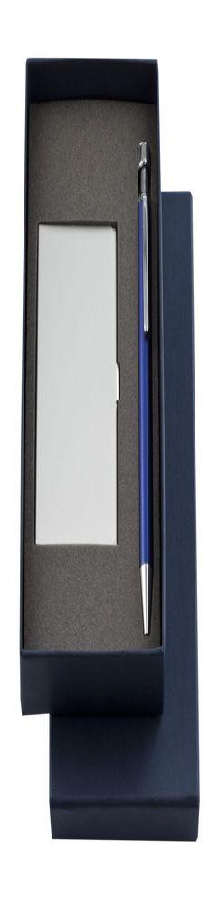 Подарочный набор: визитница и шариковая авторучка, синий фото