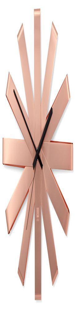 Часы настенные ribbon медь фото