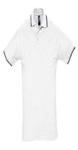 Рубашка поло мужская с контрастной отделкой PRACTICE 270, белый/темно-синий фото