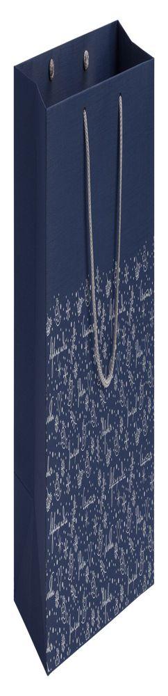 Пакет «Сказочный узор», синий фото