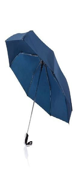 "Складной зонт-автомат Deluxe 21,5"", темно-синий фото"