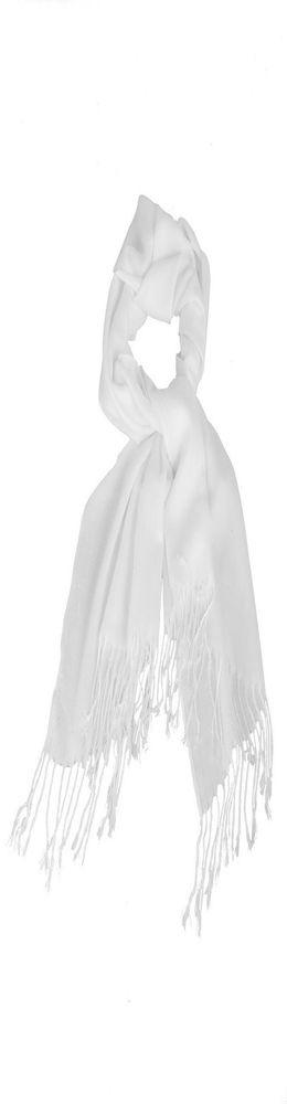 Палантин с переливом, белый фото