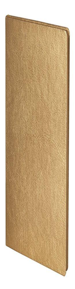 Записная книжка Ingot, золотистая фото