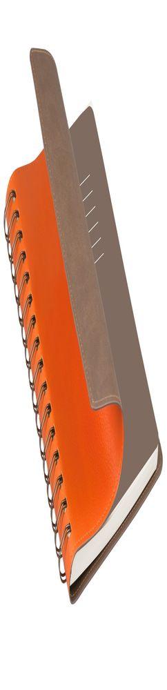 Ежедневник недатированный, Portobello Trend, Vista, 145х210, 256 стр, оранжевый/коричневый (корчневый форзац) фото