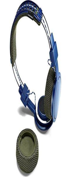 Наушники беспроводные URBANEARS Hellas, синие фото