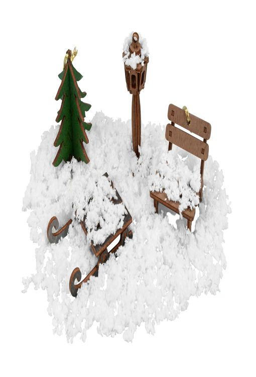 Снег вискозный фото