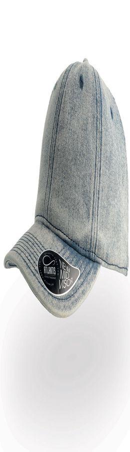 """Бейсболка """"DAD HAT"""", потертый джинс, 6 клиньев, 100% хлопок, 280грм2, металлическая застежка фото"""