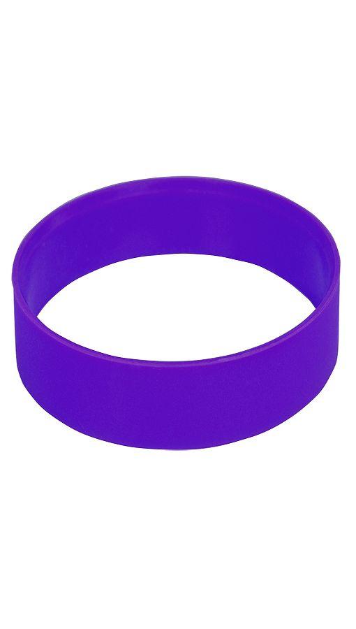 """Браслет силиконовый """"Фантазия-2"""";  D6,5см;  фиолетовый  фото"""