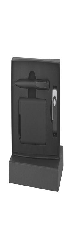 Набор ручка + флеш-карта 8Гб + зарядное устройство 4000 mAh в футляре, покрытие softgrip фото