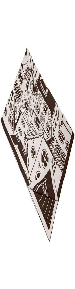 Плед «Город», бежево-коричневый фото