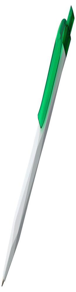 Ручка шариковая Prodir QS20 PMT-T, бело-зеленая фото