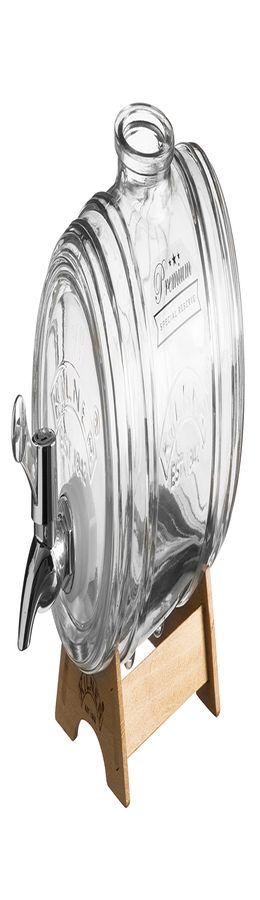 Диспенсер для напитков barrel на подставке 1 л в подарочной упаковке фото