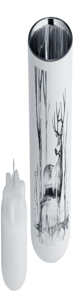 Подсвечник со свечой Forest, с изображением оленя фото