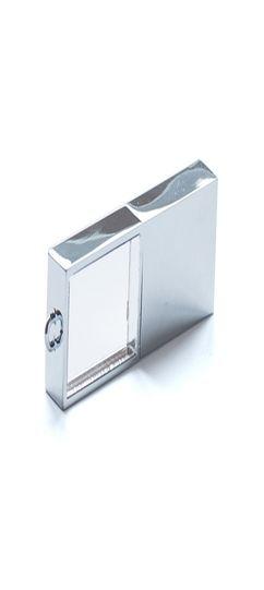 Флешка Кристалл, металлическая со стеклянной вставкой, 4Гб фото