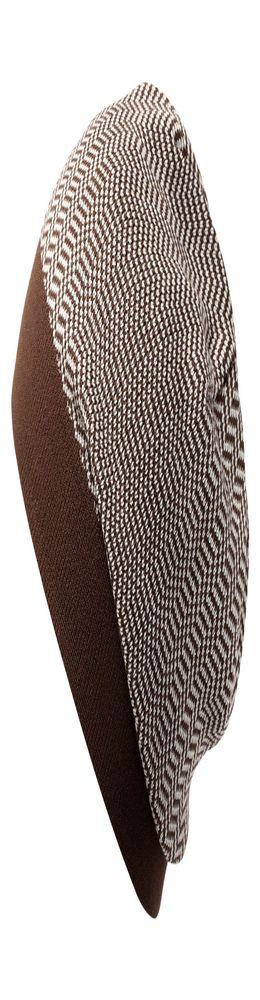 Шапка Steps, коричнево-белая фото