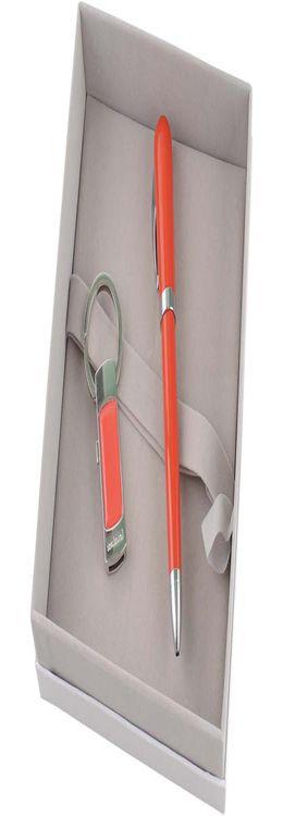Набор: брелок с USB-флешкой на 4 Гб, ручка шариковая фото