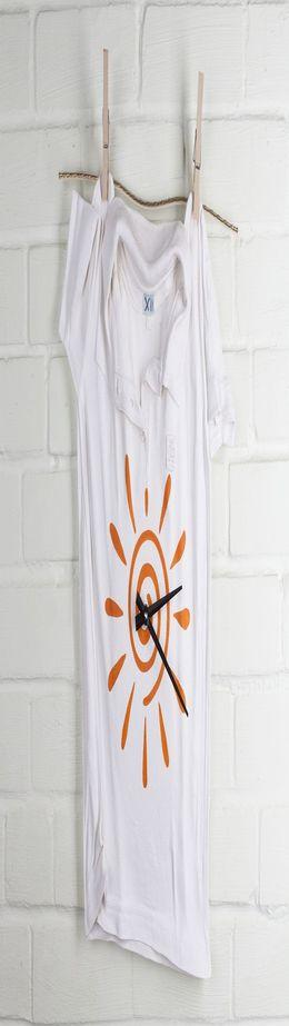 Часы «Рубашка», белые фото