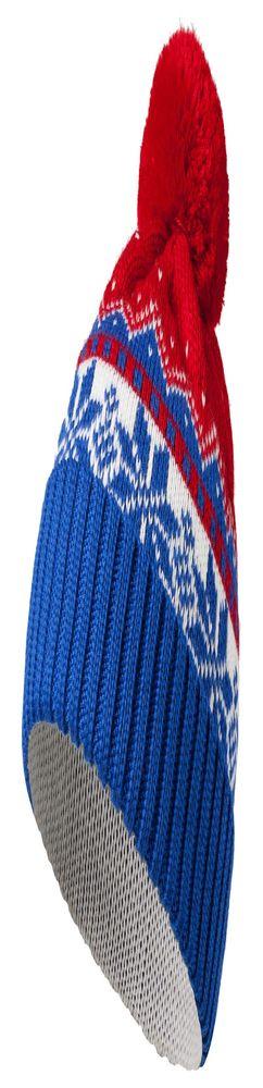 Шапка Happy View, синяя с красным фото