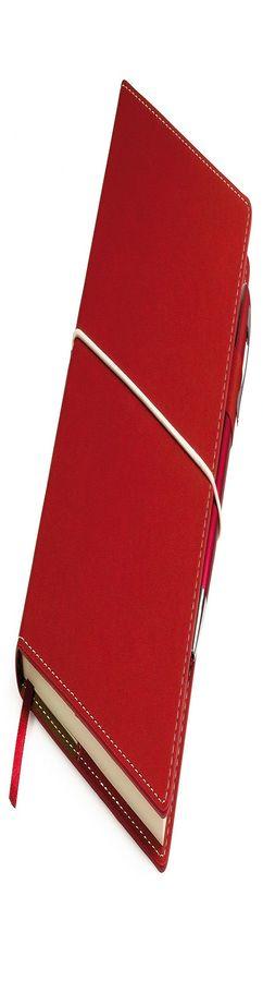 """Бизнес-блокнот """"BUSINESS"""", красный, съемная обложка, блок-линейка фото"""