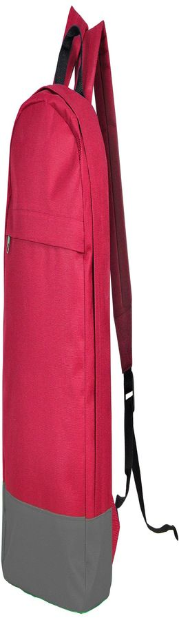 "Рюкзак ""URBAN"",  красный/ серый, 39х29х12 cм, полиэстер 600D,  шелкография фото"