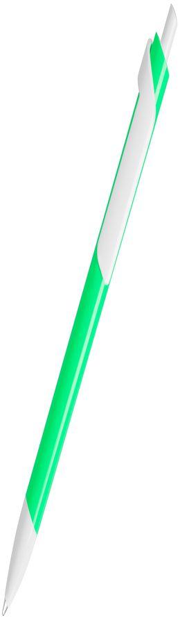 Ручка шариковая FORTE NEON, неоновый зеленый/белый, пластик фото