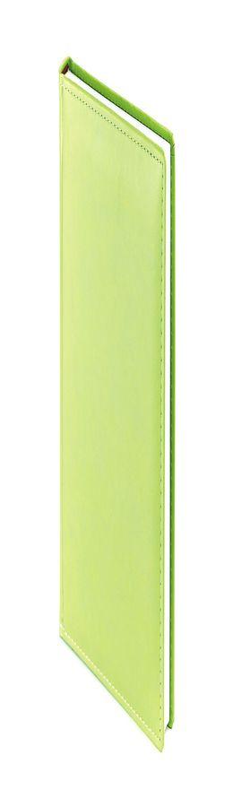 Ежедневник недатированный Velvet А5, салатовый, белый блок, без обреза фото