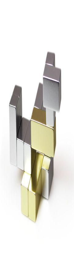 Головоломка-антистресс Cube, малая, золото фото