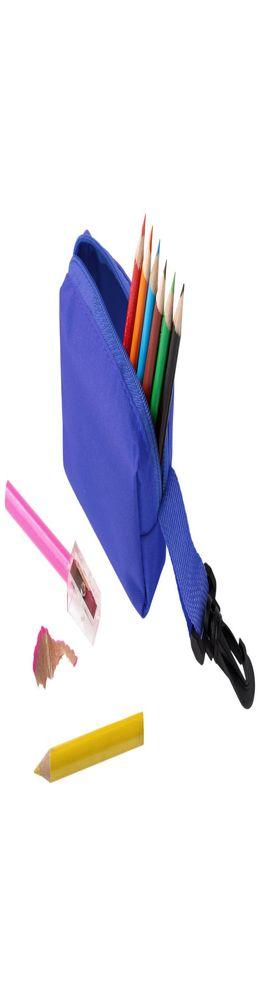 Набор Hobby с цветными карандашами и точилкой, синий фото