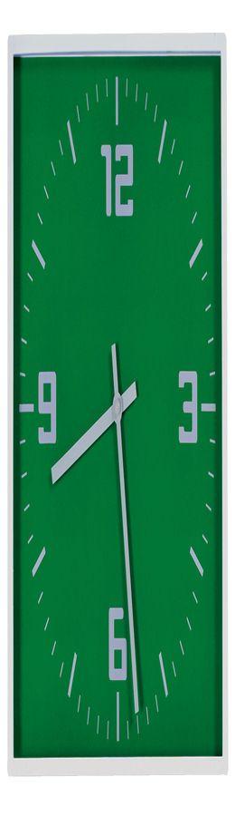 "Часы настенные ""Квадрат""; зеленый фото"