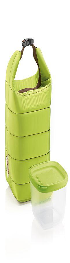 Набор термосумка+контейнер handy малый зеленый фото