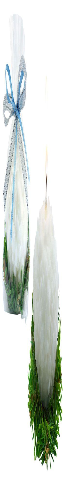 Свеча «Снежок» фото