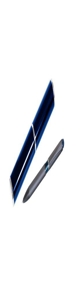 Шариковая ручка, IP Chameleon, цвет.база под лазерную гравировку, нажимной. мех-м, корпус-металл.,синий, сил. стилус, в тубусе фото