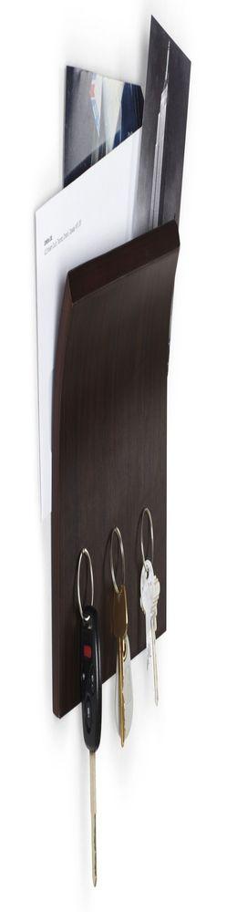 Держатель для ключей и писем Magnetter, коричневый фото