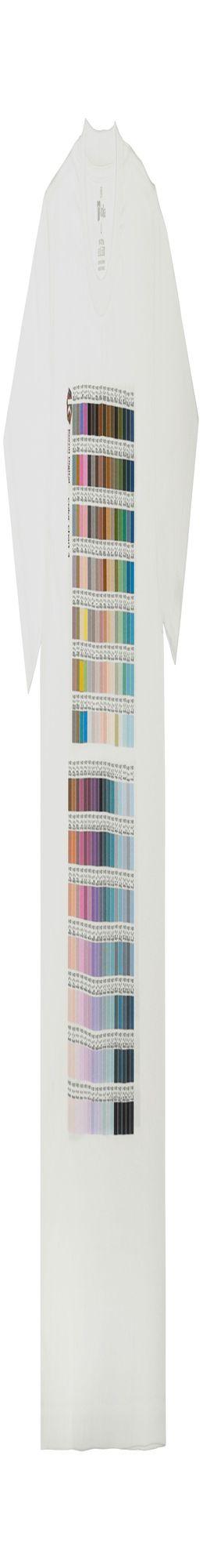 Футболка T-bolka 160 c DTG-печатью Kornit Color chart 3, белая фото