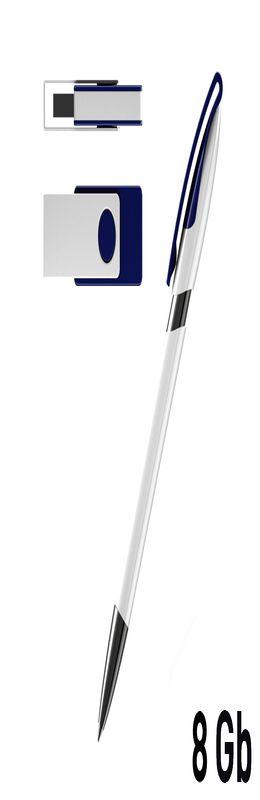Набор авторучка + флеш-карта 8Гб в футляре фото