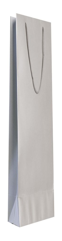 Пакет бумажный «Блеск», средний, серебристый фото