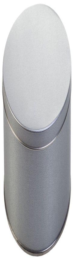 Коробка круглая, средняя, серебристая фото