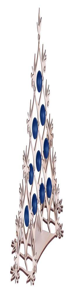 Сборная елка «Новогодний ажур», с синими шариками фото